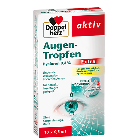DOPPELHERZ Augen Tropfen Hyaluron 0.4 % Extra