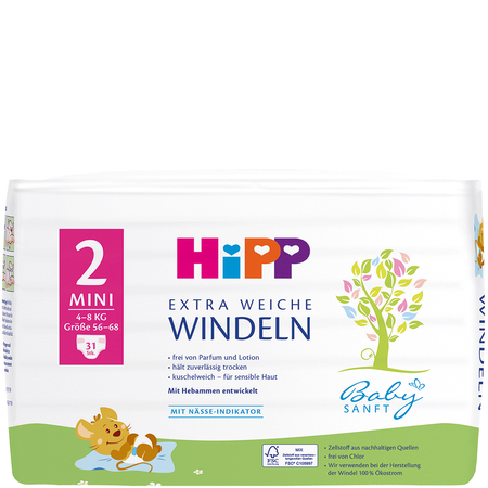 HiPP Babysanft Windeln Mini 2 4-8 kg