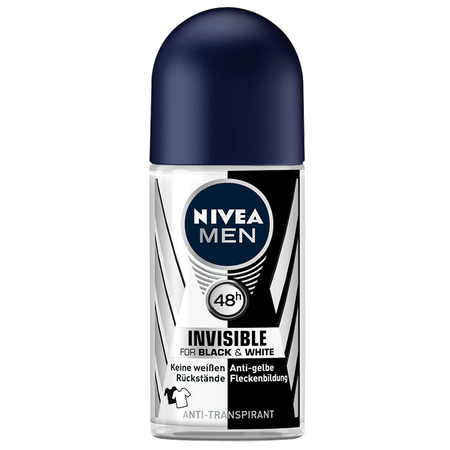 NIVEA MEN Roll-on Invisible Black&White Power