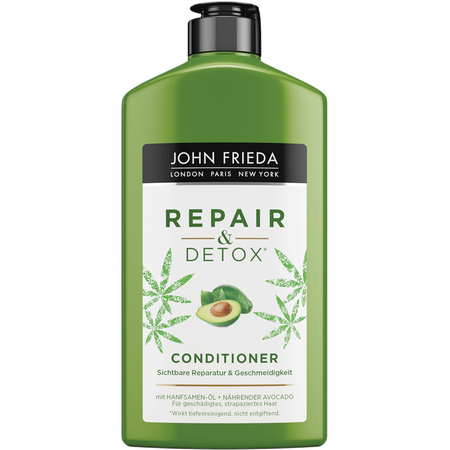 JOHN FRIEDA Repair & Detox Conditioner mit Hanfsamen-Öl und nährender Avocado