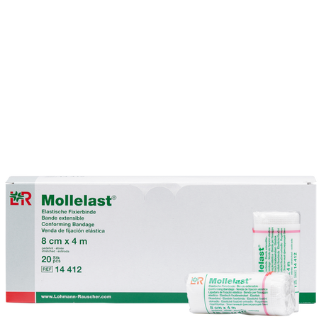 LOHMANN & RAUSCHER Mollelast® Elastische Fixierbinde 8 cm x 4 m