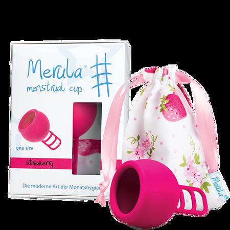 Merula Cup strawberry Menstruationstasse