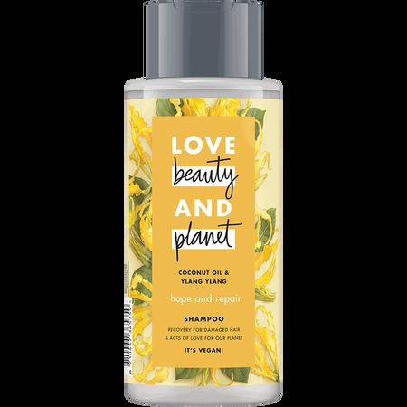 Love Beauty &  Planet Hope & Repair Shampoo Coconut Oil & Ylang Ylang Flower