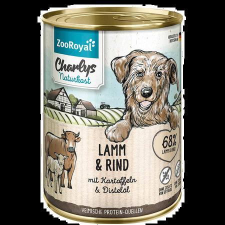 ZooRoyal Charlys Naturkost Lamm & Rind Hundefutter