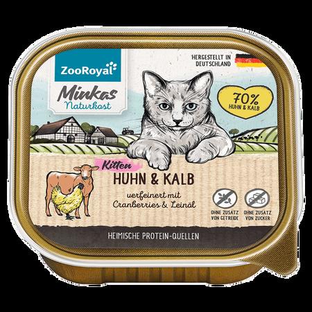 ZooRoyal Minkas Naturkost Kitten Huhn & Kalb Katzenfutter