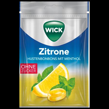 WICK Hustenbonbons mit Zitrone ohne Zucker