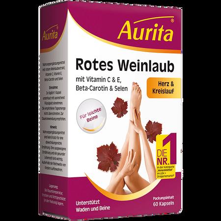 Aurita Rotes Weinlaub Kapseln
