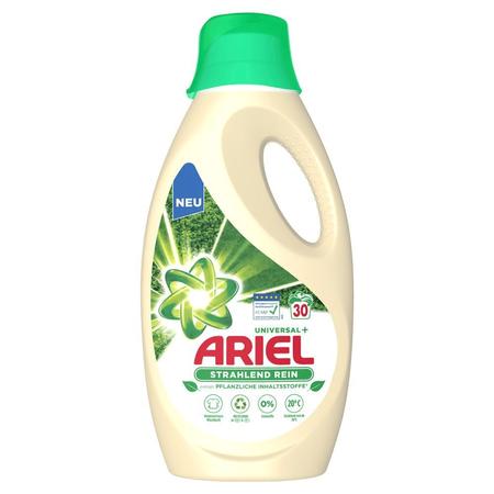 ARIEL Flüssigwaschmittel Universal+ auf   Pflanzenbasis – 30 Waschladungen
