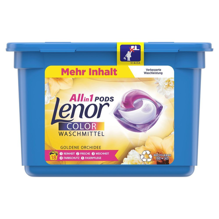 Lenor All-in-1 PODS Goldene Orchidee   Colorwaschmittel 18Waschladungen