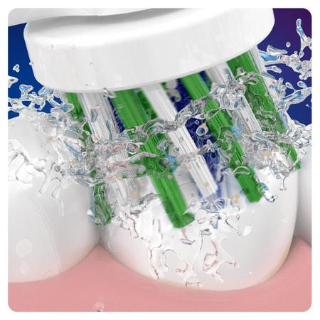 Oral-B CrossAction Aufsteckbürsten mit   CleanMaximiser-Borsten für ganzheitliche Mundreinigung, 3Stück