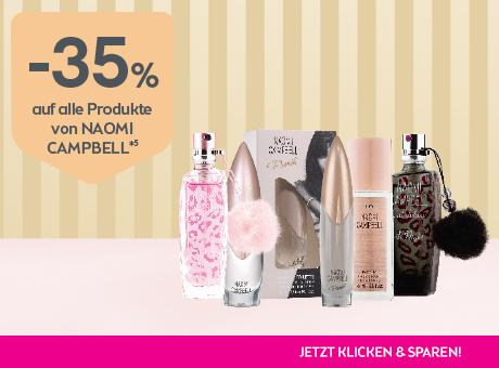 Sparen Sie 25% auf alle Produkte von Naomie Campbell.