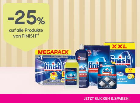 Sparen Sie 25% auf alle Produkte von finish.