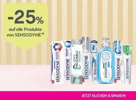 Sparen Sie 25% auf alle Produkte von Sensodyne.