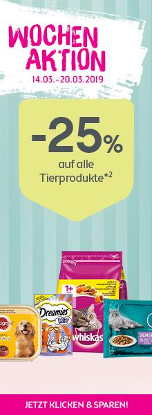 -25% auf alle Tierprodukte