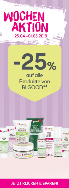-25% auf alle Produkte von bigood