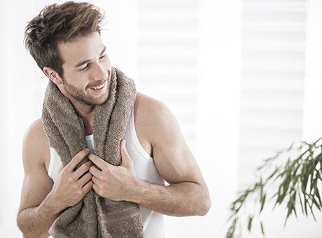 Pflege- & Wohlfühlprodukte für Männer