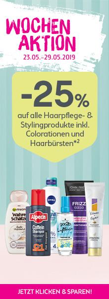-25% auf alle Haarprodukte