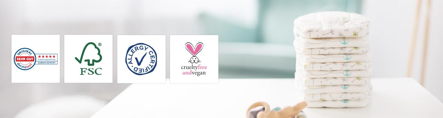 LILLYDOO zertifizierte Windeln & Feuchttücher