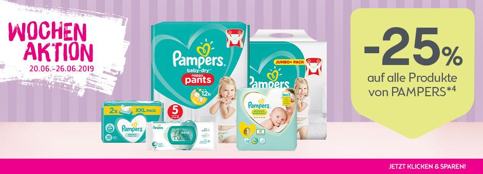 -25% auf alle PAMPERS Produkte