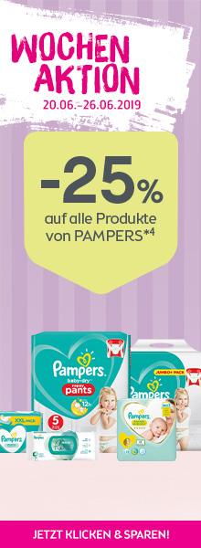 -25% auf alle Produkte von Pampers