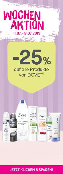 25% auf alle Produkte von Dove