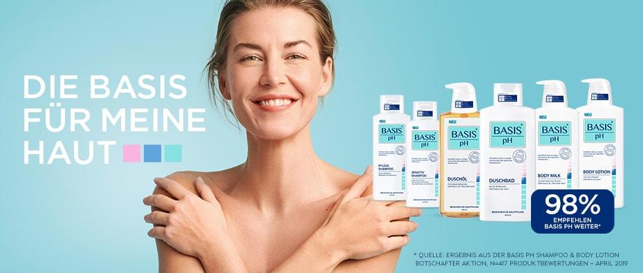 Basis pH Duschbad, Body Milk, Body Lotion, Duschöl