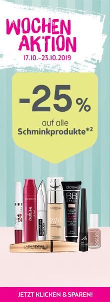 -25% auf alle Schminkprodukte