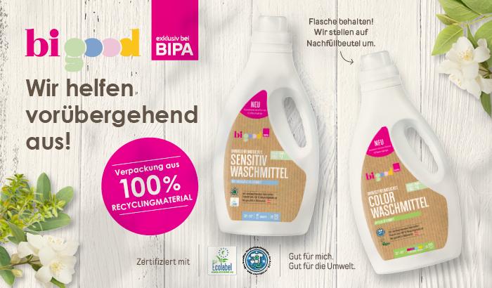 nachhaltig Waschen mit bi good