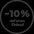 10% Gutschein Newsletter Anmeldung